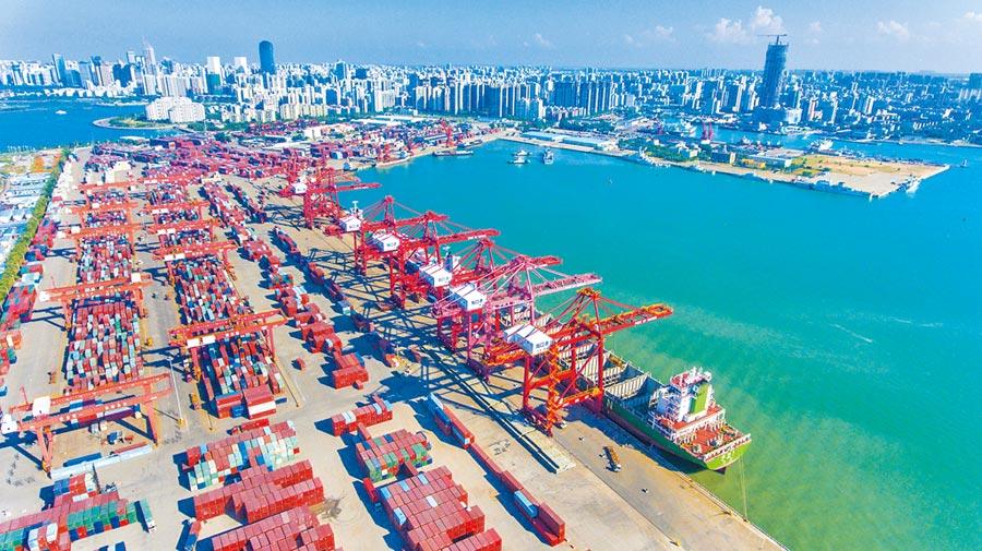 海南省海口港碼頭。(中新社資料照片)