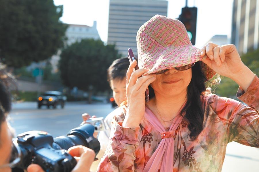 喬建軍的前妻趙世蘭,2015年在美國加州聯邦法庭出庭,同年被捕。(新華社資料照片)