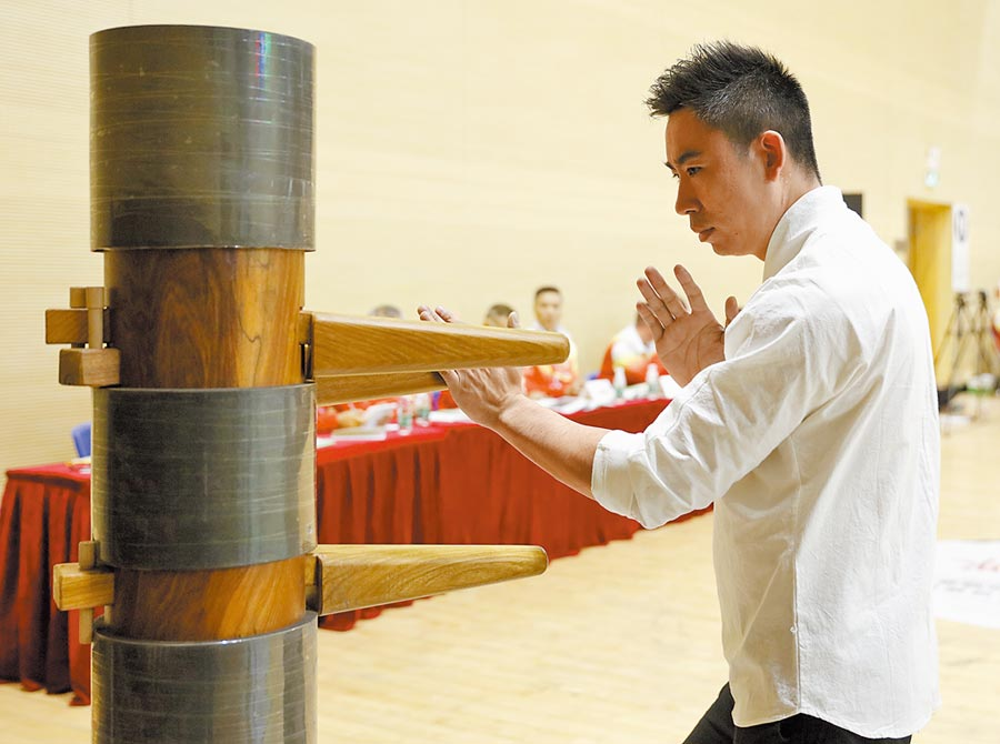 2017年11月25日,第四屆國際詠春拳大賽在廣東佛山舉行。(新華社)