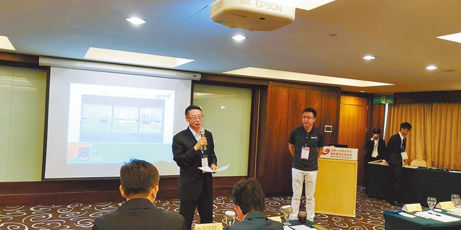 中國奧會副祕書長劉扶民出席兩岸運動產業研討會。(記者林永富攝)