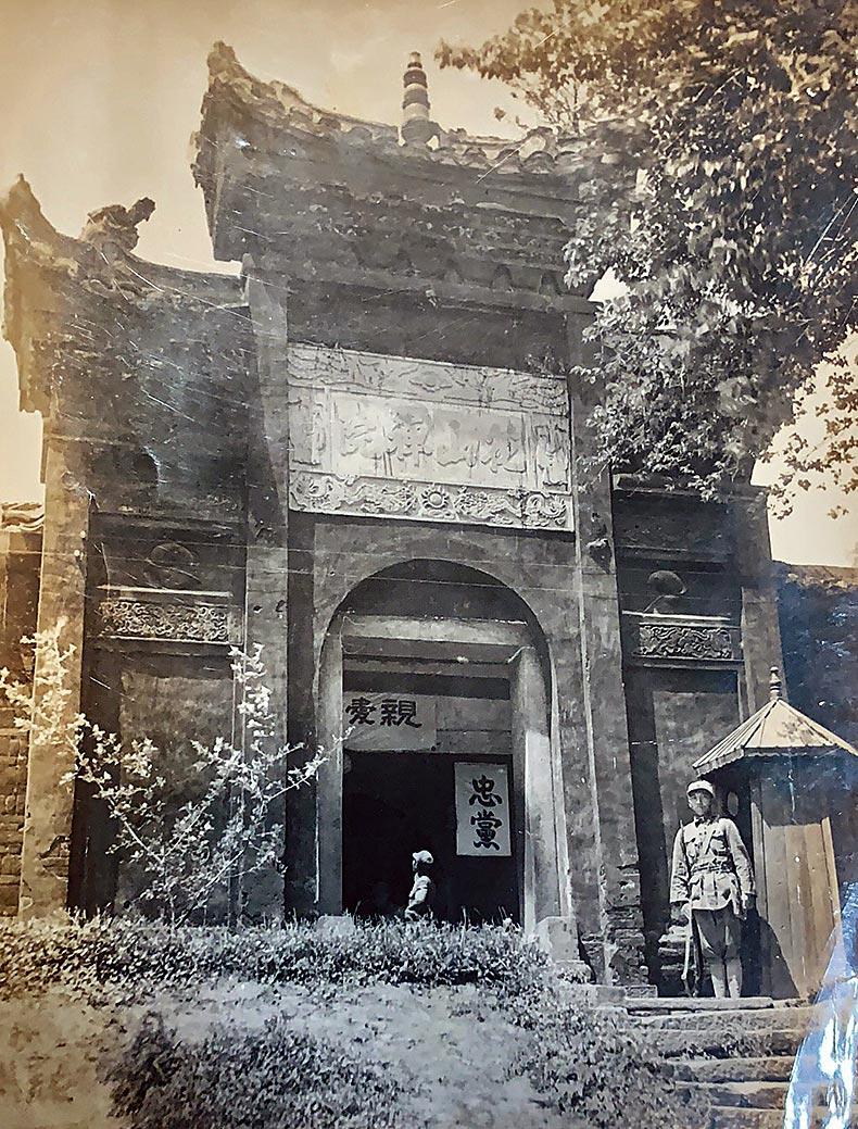 這是湖南省洪江縣在頭鎮,花山禪院,是當時的陸軍機械化學校校舍。(圖片由韓濟華在戰車學校的同班同學鄒昌吉提供)