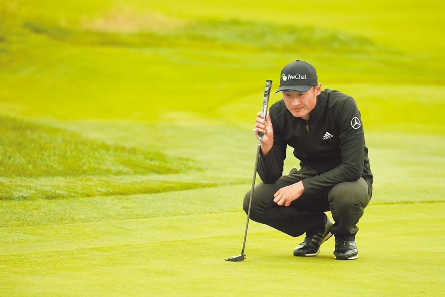 大陸職業高爾夫球員李昊桐,在大賽中曝光度漸增(CFP)