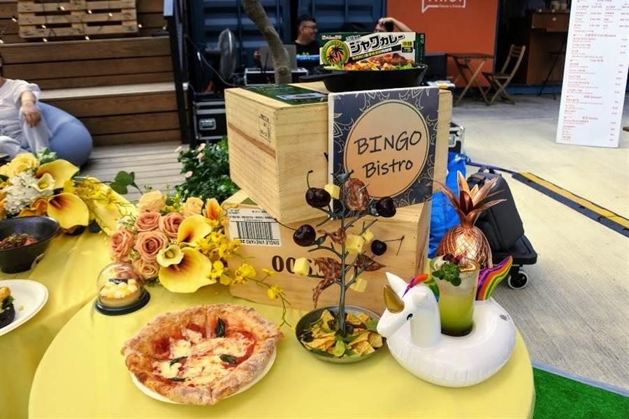 「夏日微醺草地音樂派對」各式美味餐點。