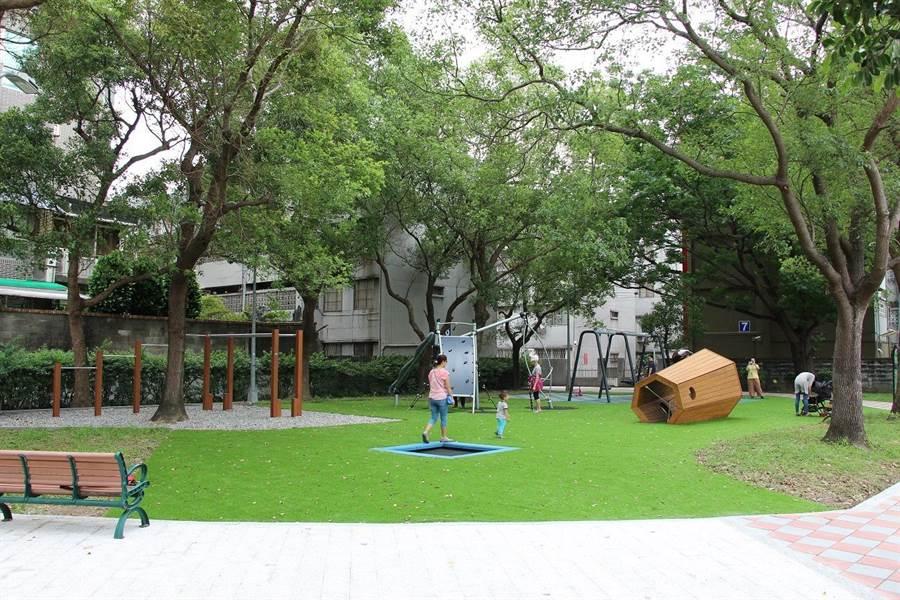 榮富公園。(圖取自台北市公園處官網)