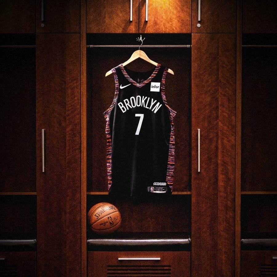 杜蘭特決定在籃網改穿7號球衣,而7號球衣的前任主人就是林書豪。(翻拍網路)