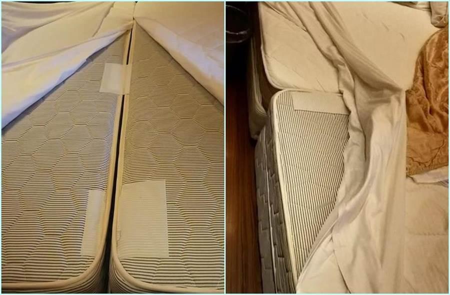 摩鐵宣稱「大飯店式的新床」長這樣。(照片來源:爆怨公社)