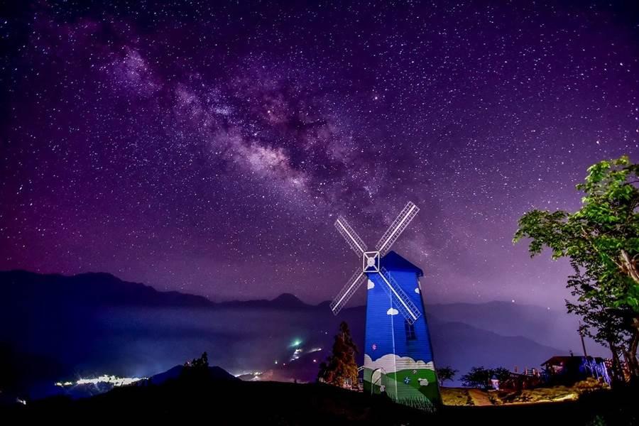 ▲清境農場壯觀的星空夜景。(胡秀幸提供)