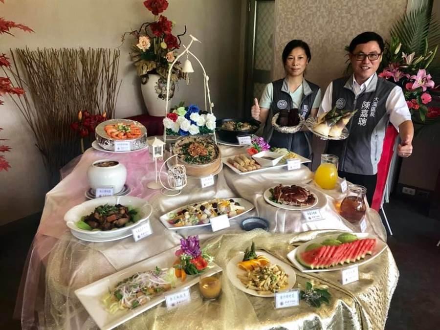 大溪美食饗宴1桌2000認桌要快。(呂筱蟬攝)