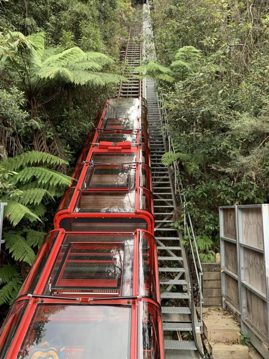 澳洲藍山國家公園的地面纜車。(廖志晃翻攝)
