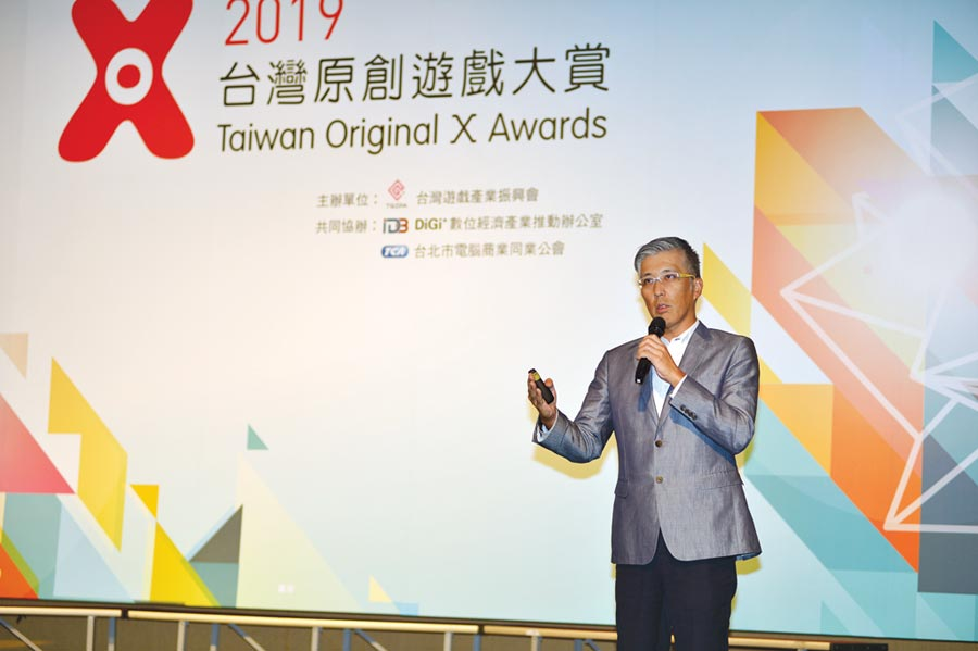 日本遊戲廠商艾鳴網路總經理平田尚武參加原創遊戲大賞指出,台灣遊戲有實力走向全世界。圖/台北市電腦商業同業公會提供