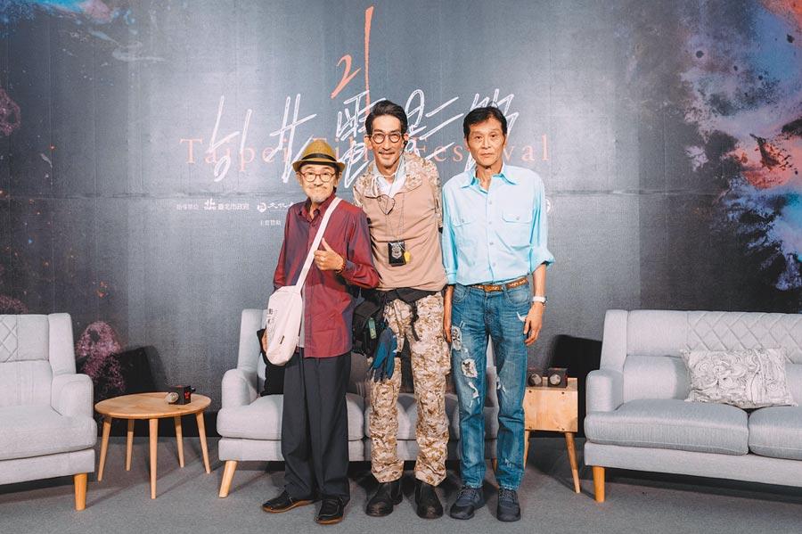 小戽斗(左起)、車保羅和喜翔各自用新片證明港台資深演員不只能演綠葉,更有資格扛起主角戲分。