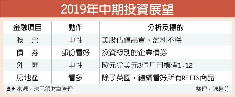 2019年中期投資展望