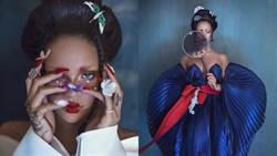 蕾哈娜挑戰唐朝造型!「髮髻、蝴蝶唇」網驚訝