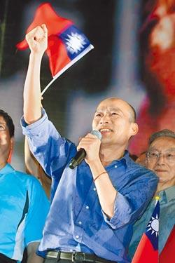 山水民調顯示!國民黨初選 三腳督對比 韓國瑜皆勝出