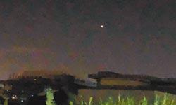 沙鹿西南方 凌晨出現不明飛行物