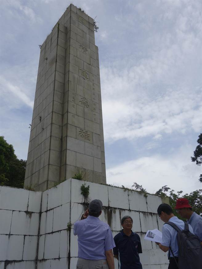 台南市文資處決議忠靈塔「列冊追蹤」。(台南市文化局提供)