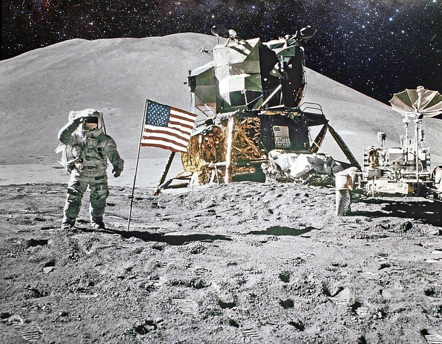 人類登月畫面。(達志影像/shutterstock提供)