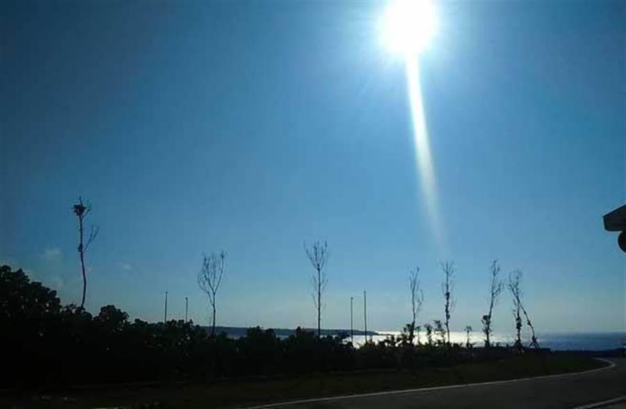 氣象局今(9日)針對雙北、花東發布高溫特報,可能出現36度高溫。(林宜靜 攝)