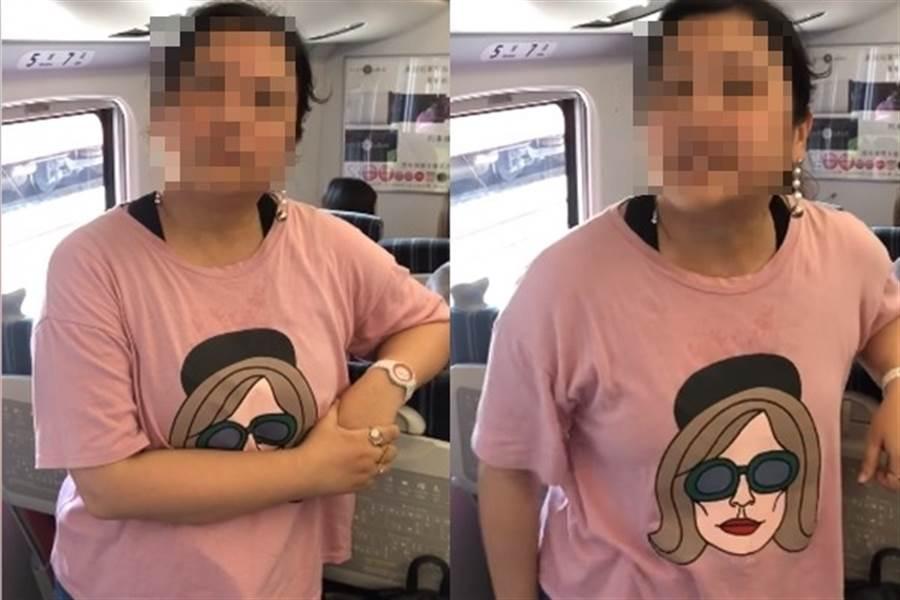 女网友买在普悠玛站票,竟遭女乘客咆哮:请妳下车。(图/翻摄自《爆怨公社》)