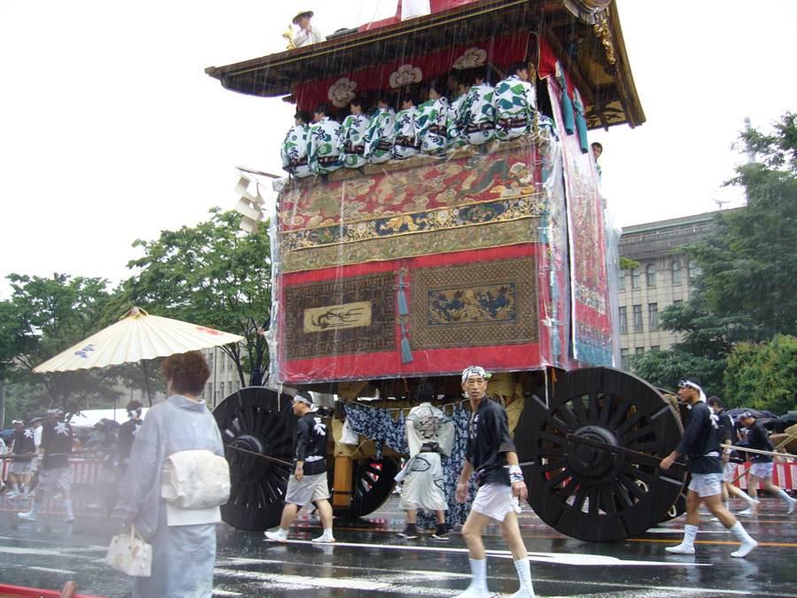 京都祇園祭的資料照。(黃菁菁)