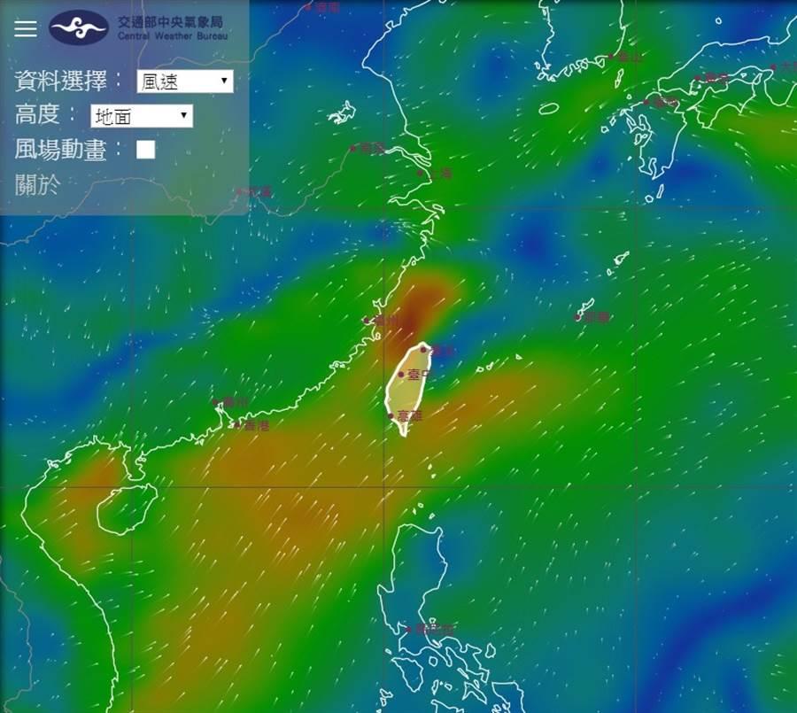 台灣西南部清晨仍下雨。(翻攝鄭明典臉書)
