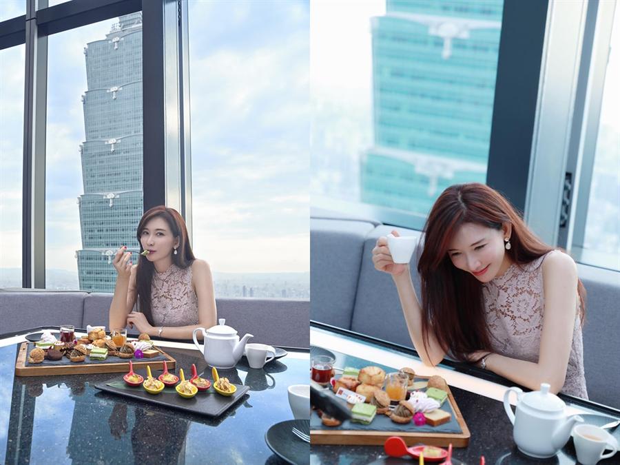 林志玲婚前最後一次在台灣公開露面打卡的餐廳在哪裡?就在台北最熱的話題高空餐CÉ LA VI。(翻攝自志玲臉書)