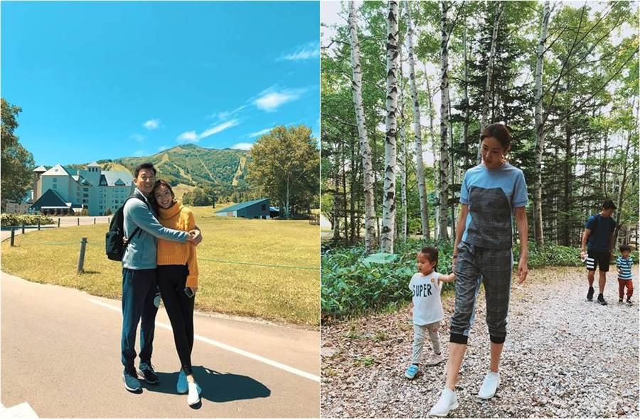 隋棠帶孩子到北海道旅遊,也難得和老公有獨處機會。(圖/取材自隋棠 Sonia Sui臉書)