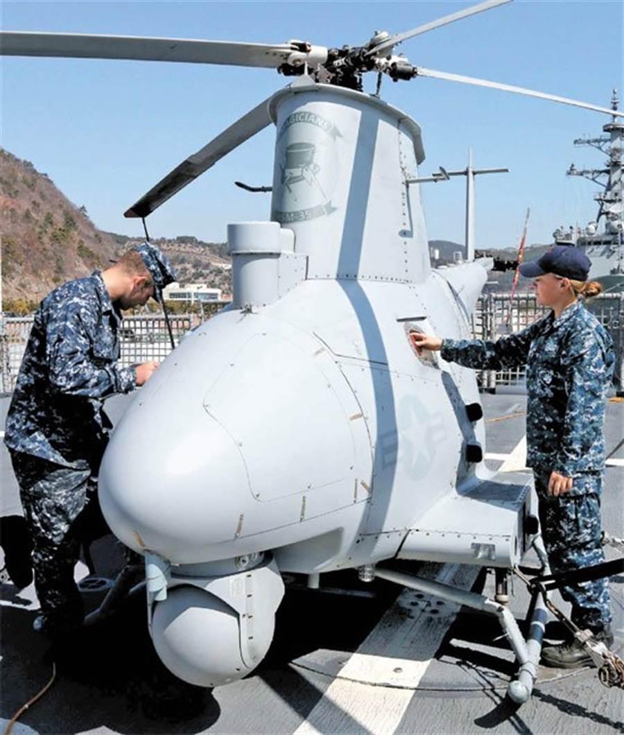 MQ-8A無人直升機,體型還不算大。(圖/美國海軍)