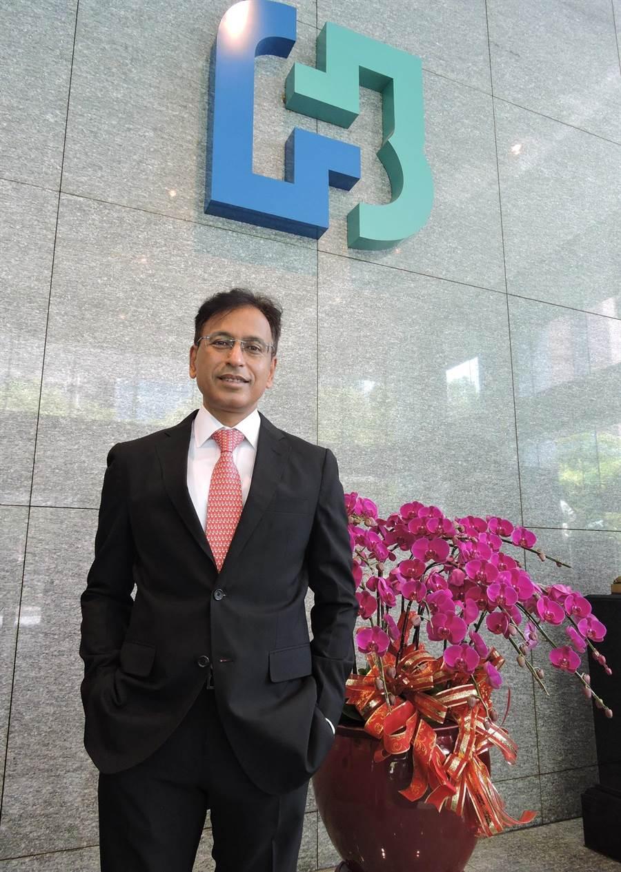 台北富邦銀行首度延攬印度籍金融專才潘柏迪(Pradeep Pant)擔任數位金融總處總處長。(北富銀提供)