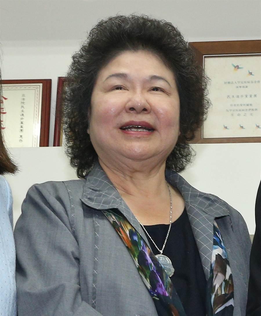 前高雄市長、現總統府秘書長陳菊。 (圖/資料照片,劉宗龍攝)
