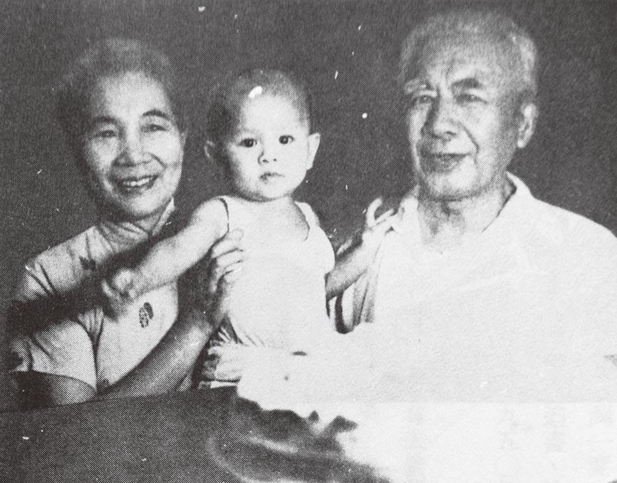 一九六三年盛世才與邱毓芳在台北飴孫。(秀威資訊提供)