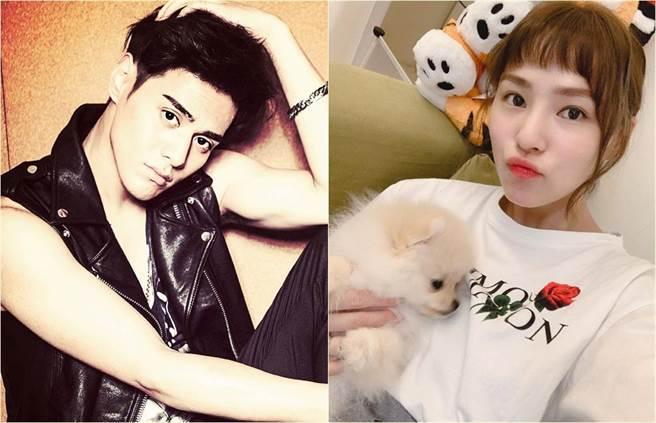 熊熊3月就曾表示近期有喜歡的人,現在揭曉對象就是杜天皓(左)。(合成圖/翻攝自微博、臉書)