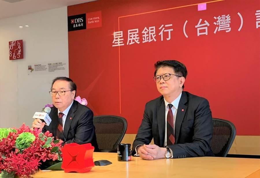 星展集團控股主席佘林發(左)與星展銀行(台灣)總經理林鑫川。圖/陳碧芬