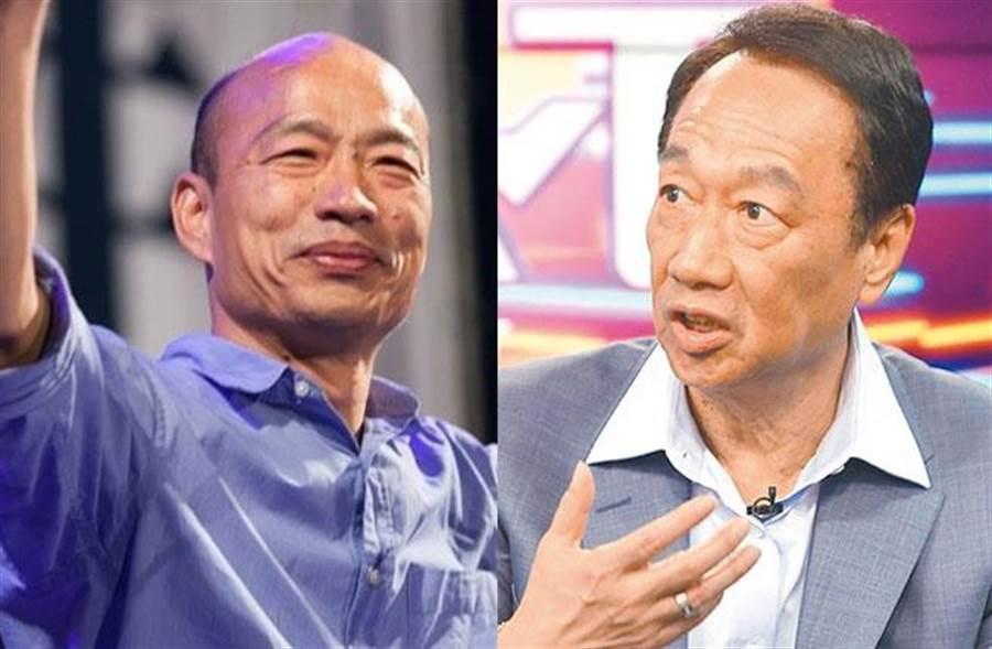 高雄市長韓國瑜(左)、鴻海集團創辦人郭台銘(右)。(圖/合成圖;本報系資料照)
