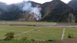 中橫宜蘭支線山坡地起火 消防派員搶救