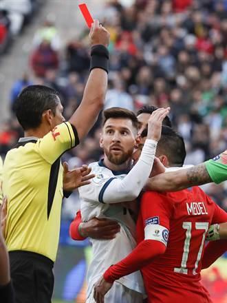 梅西紅牌還開罵 世足資格賽禁1場