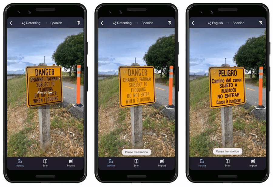 Google 翻譯的即時鏡頭翻譯功能全新升級。(圖/翻攝Google部落格)
