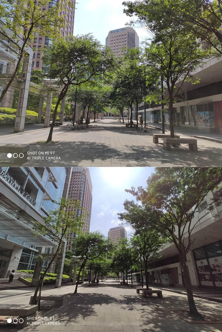 小米9T主相機與廣角相機(下)拍攝對比。(圖/黃慧雯攝)