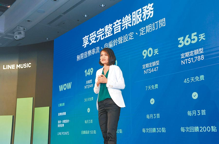 LINE MUSIC在台灣推出,圖為LINE台灣內容事業副總經理張景雯。圖/LINE提供