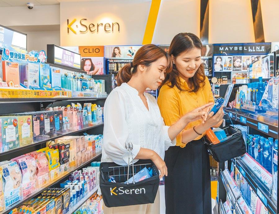7-ELEVEN X K‧Seren美妆复合店首度前进南台湾拓点,分别落脚台南、高雄,目前全台共5间。图/业者提供