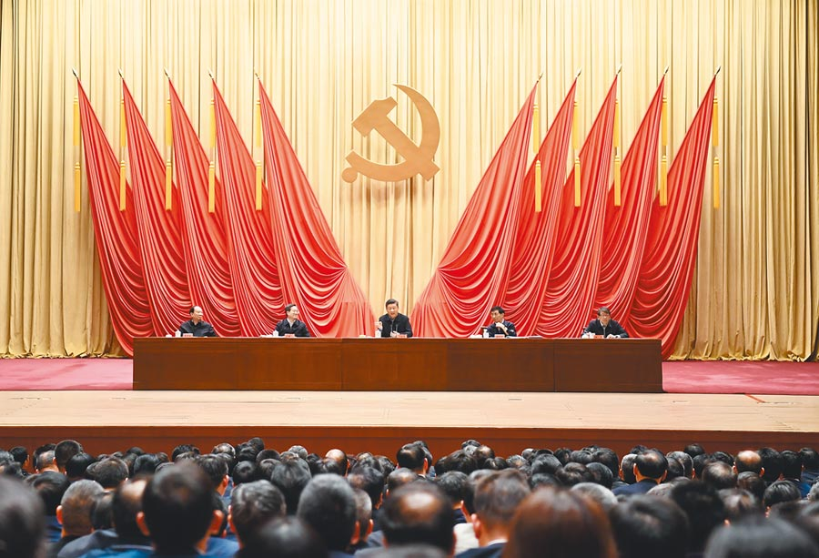 3月1日,習近平在中央黨校中青年幹部培訓班開班式上發表重要講話。(新華社)