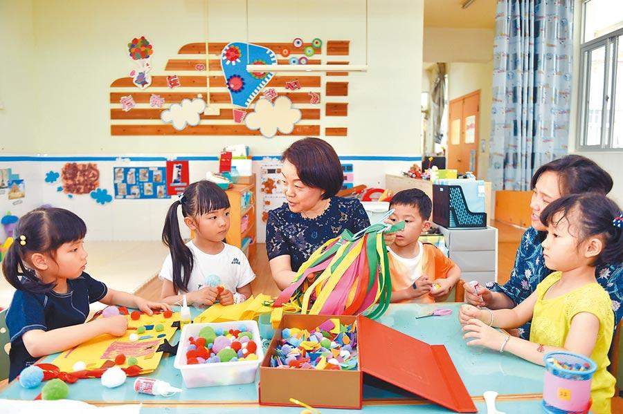 福州一幼兒園的上課情況。(新華社資料照片)