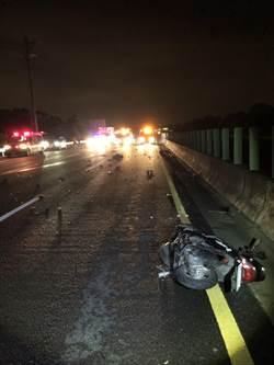 騎士國道逆向 與轎車對撞身亡