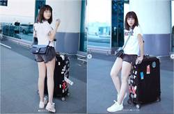 徐懷鈺的機場時尚 熱褲曬白嫩腿網看傻