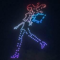 300架無人機夜空展演 為台中購物節創造吸睛度