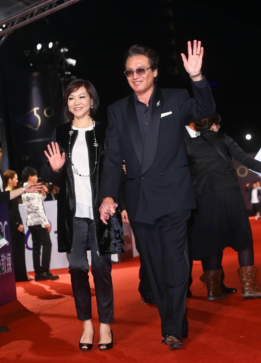 秦祥林和妻子先前回台灣。(圖/資料照)