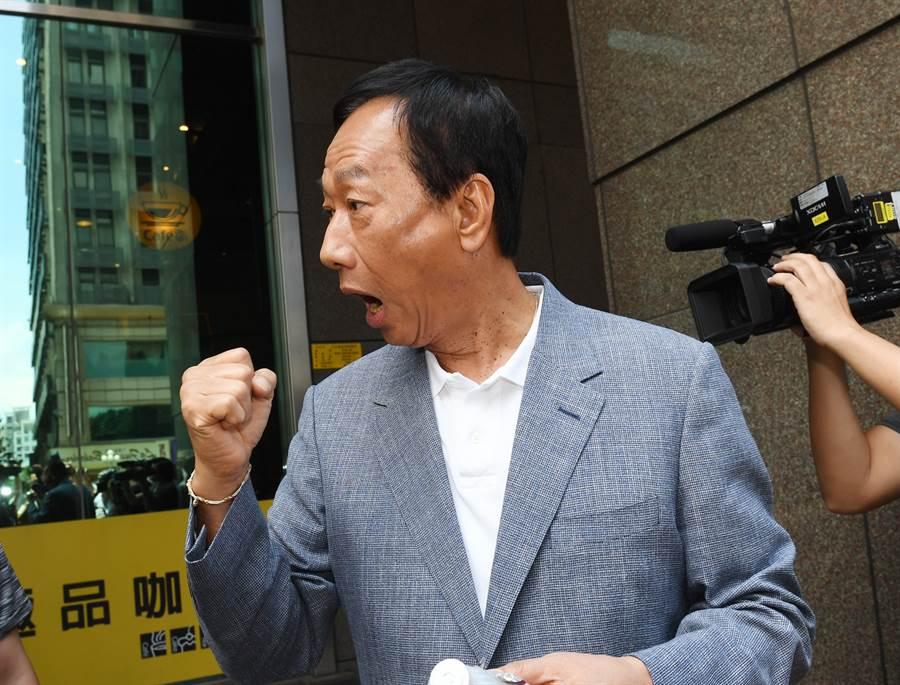 國民黨總統初選參選人郭台銘。(圖/中央社)
