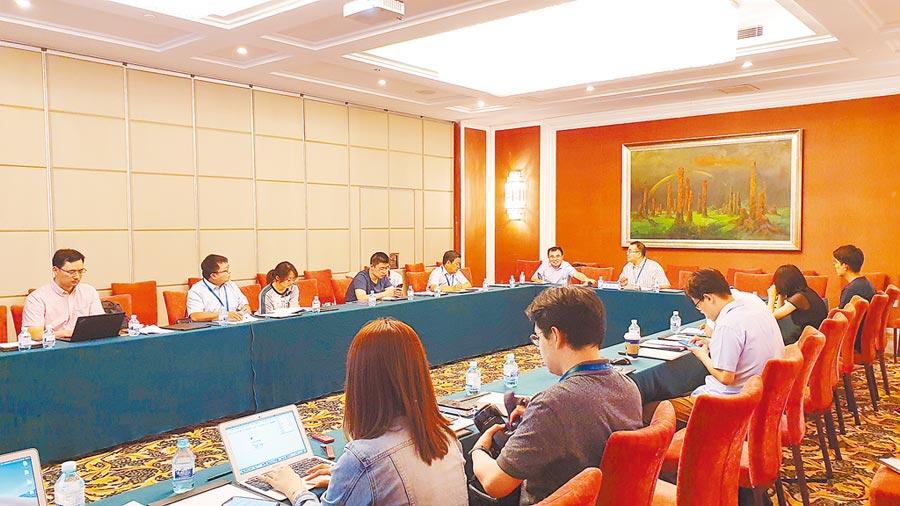 北京清華大學11日舉行「第12屆政治學與國際關係學術共同體年會」,圖為分組研討會「台灣研究與兩岸關係」現場。(記者藍孝威攝)