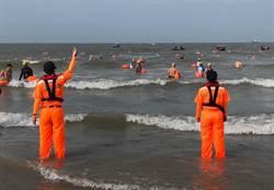 金門搶灘料羅灣風浪大  17年來首度緊急叫停