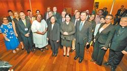 蔡會17友邦代表 稱有權參與國際